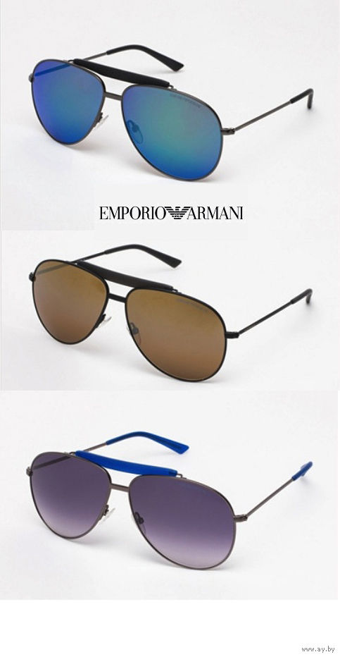 7ff893eb413b Солнцезащитные очки-авиаторы EMPORIO ARMANI, 100 % оригинальные с  сертификатом подлинности, Made in