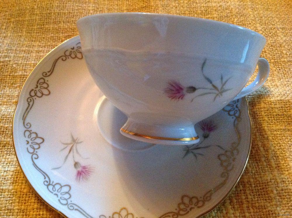 Полевой цветок чайная пара
