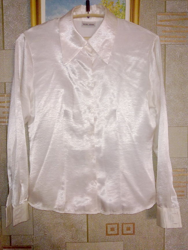 Белая Блузка Атласная С Доставкой