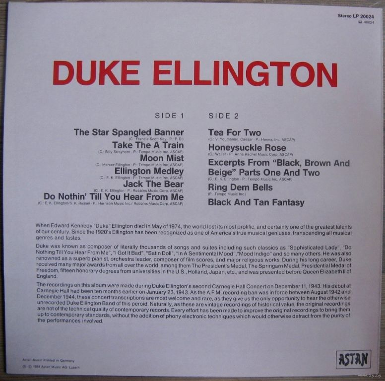 duke elington essay - duke elington duke ellington was an american jazz bandleader, composer, and pianist he is thought of as one the greatest figures in jazz the french government honored him with their highest award, the legion of honor, while the government of the united states awarded him with the highest civil honor, the presidential medal of freedom.
